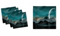 """Ambesonne Space Set of 4 Napkins, 12"""" x 12"""""""