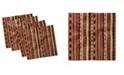 "Ambesonne Tribal Set of 4 Napkins, 12"" x 12"""