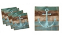 """Ambesonne Anchor Set of 4 Napkins, 12"""" x 12"""""""