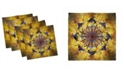 """Ambesonne Blooming Life Set of 4 Napkins, 12"""" x 12"""""""