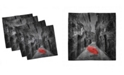 "Ambesonne Umbrella Theme Set of 4 Napkins, 12"" x 12"""