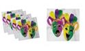 "Ambesonne Mardi Gras Set of 4 Napkins, 12"" x 12"""