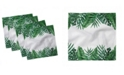 "Ambesonne Palm Leaf Set of 4 Napkins, 12"" x 12"""