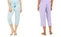 Muk Luks Printed Capri Pajama Pant