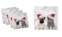 "Ambesonne Pug Set of 4 Napkins, 12"" x 12"""