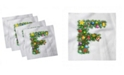 """Ambesonne Letter F Set of 4 Napkins, 12"""" x 12"""""""