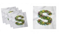 """Ambesonne Letter S Set of 4 Napkins, 12"""" x 12"""""""