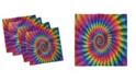 "Ambesonne Trippy Set of 4 Napkins, 12"" x 12"""