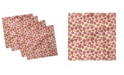 "Ambesonne Strawberry Set of 4 Napkins, 12"" x 12"""