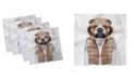 "Ambesonne Bulldog Set of 4 Napkins, 12"" x 12"""