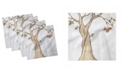 "Ambesonne Cartoon Set of 4 Napkins, 12"" x 12"""
