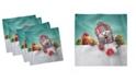 "Ambesonne Christmas Set of 4 Napkins, 18"" x 18"""