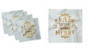 """Ambesonne Eat Drink and Be Merry Set of 4 Napkins, 18"""" x 18"""""""