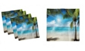 "Ambesonne Tropical Beach Set of 4 Napkins, 18"" x 18"""