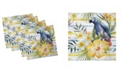 """Ambesonne Parrot Set of 4 Napkins, 18"""" x 18"""""""