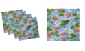 """Ambesonne Ladybugs Set of 4 Napkins, 18"""" x 18"""""""