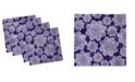 "Ambesonne Retro Flower Set of 4 Napkins, 18"" x 18"""