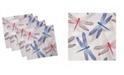 "Ambesonne Dragonfly Set of 4 Napkins, 18"" x 18"""