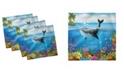 "Ambesonne Whale Set of 4 Napkins, 18"" x 18"""
