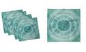"""Ambesonne Mandala Set of 4 Napkins, 18"""" x 18"""""""