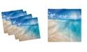 "Ambesonne Beach Set of 4 Napkins, 18"" x 18"""