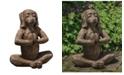 Campania International Yoga Dog Garden Statue
