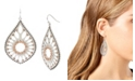 """Jessica Simpson Openwork Teardrop Earrings, 2.6"""""""