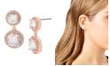 Jessica Simpson Cubic Zirconia Stone Double Drop Earrings