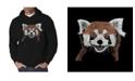LA Pop Art Men's Red Panda Word Art Hooded Sweatshirt