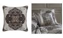 "J Queen New York Desiree  18"" Square Decorative Throw Pillow"