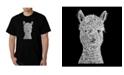 LA Pop Art Men's Word Art - Alpaca T-Shirt
