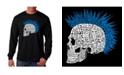 LA Pop Art Men's Word Art - Punk Mohawk Long Sleeve T-Shirt