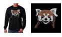 LA Pop Art Men's Word Art - Red Panda Long Sleeve T-Shirt
