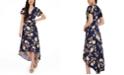BCX Juniors' Faux-Wrap High-Low Dress