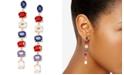 Zenzii Gold-Tone Multicolor Crystal Drop Earrings
