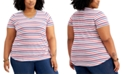 Style & Co Plus Size Striped T-Shirt, Created for Macy's