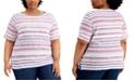 Karen Scott Plus Size Berry-Print T-Shirt, Created for Macy's