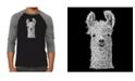 LA Pop Art Llama Men's Raglan Word Art T-shirt