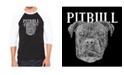 LA Pop Art Pitbull Face Men's Raglan Word Art T-shirt