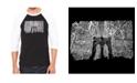 LA Pop Art Brooklyn Bridge Men's Raglan Word Art T-shirt