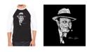 LA Pop Art Al Capone Original Gangster Men's Raglan Word Art T-shirt