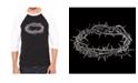 LA Pop Art Crown of Thorns Men's Raglan Word Art T-shirt