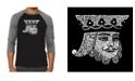 LA Pop Art King of Spades Men's Raglan Word Art T-shirt