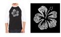LA Pop Art Mahalo Men's Raglan Word Art T-shirt