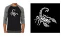 LA Pop Art Types of Scorpions Men's Raglan Word Art T-shirt