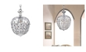 """Home Accessories Silver 8"""" 1-Light Indoor Chandelier with Light Kit"""