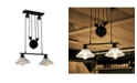 """Home Accessories Laxmi 9.1"""" 2-Light Indoor Chandelier with Light Kit"""