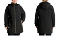 Michael Kors Plus Size Hooded Raincoat, Created for Macy's