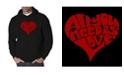 LA Pop Art Men's Word Art Hooded Sweatshirt - All You Need Is Love