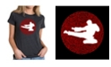 LA Pop Art Women's Premium Blend T-Shirt with Types Of Martial Arts Word Art